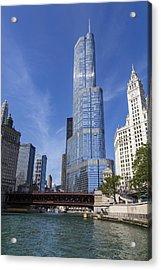 Trump Tower Chicago Acrylic Print by Adam Romanowicz