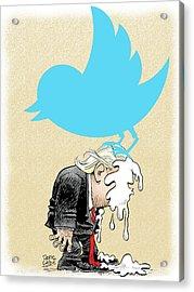 Trump Twitter Poop Acrylic Print