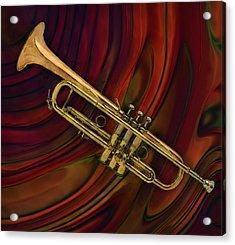 Trumpet 2 Acrylic Print by Jack Zulli