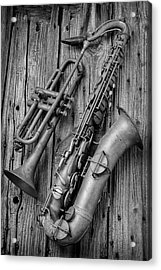 Trumpet And Sax Acrylic Print by Garry Gay