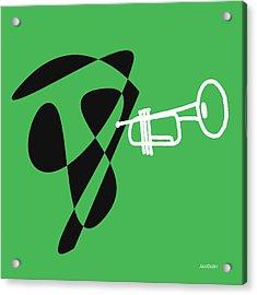 Trumpet In Green Acrylic Print