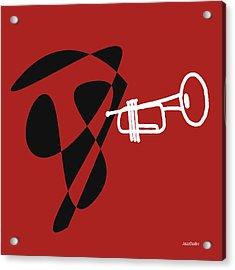 Trumpet In Orange Red Acrylic Print