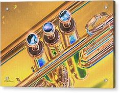 Trumpet Keys Acrylic Print