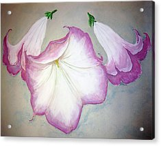 Trumpet Lilies Acrylic Print