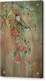 Acrylic Print featuring the painting Trumpet Nectar by Mary McCullah