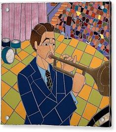 Trumpet Player Acrylic Print by Jonathan Mandell