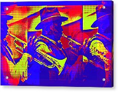Trumpet Player Pop-art Acrylic Print