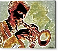 Trumpet Acrylic Print by Stephen Younts