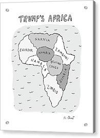 Trumps Africa Acrylic Print