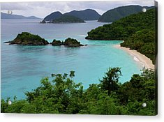 Acrylic Print featuring the photograph Trunk Bay At U.s. Virgin Islands National Park by Jetson Nguyen