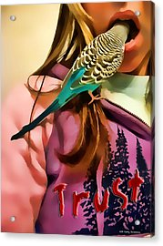 Acrylic Print featuring the photograph Trust Me by Kathy Tarochione