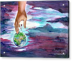 Acrylic Print featuring the painting Trust Me by Nancy Cupp
