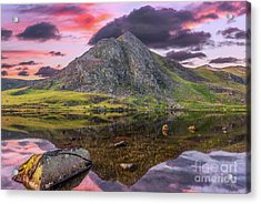 Acrylic Print featuring the photograph Tryfan Mountain Sunset by Adrian Evans
