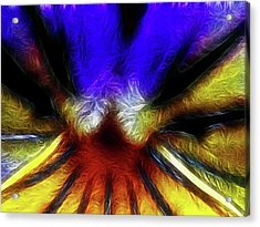 Trying To Fit Into A Size Two Acrylic Print by Wingsdomain Art and Photography