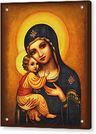 Tryptichon Madonna Acrylic Print by Ananda Vdovic