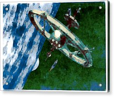 Tsiolkovsky Station In Earth Orbit Acrylic Print