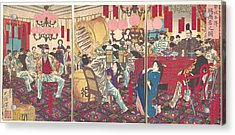 Tsukioka Yoshitoshi    Police Superintendant's Party A Gift Of Food And Drink Acrylic Print