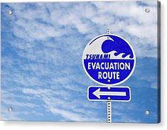 Tsunami Evacuation Route Sign Acrylic Print