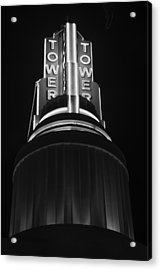 Ttower Theatre  Black And White Acrylic Print