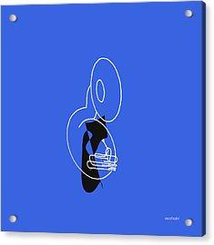 Tuba In Blue Acrylic Print