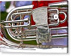 Tuba Player. Usmc Band Acrylic Print
