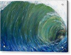 Tube Of Water Acrylic Print by Tony Rodriguez