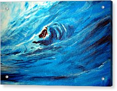 Tube Riding The Banzai Pipeline Acrylic Print