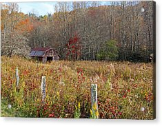 Acrylic Print featuring the photograph Tucked Away - Barns by HH Photography of Florida
