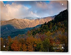 Tuckermans Ravine In Autumn Acrylic Print by Susan Cole Kelly