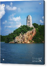 Tucker's Tower Gentle Summer Day Acrylic Print by Tamyra Ayles
