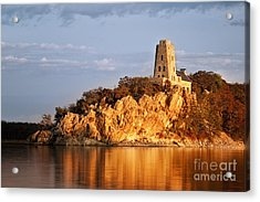 Tucker's Tower Sunset Glow Acrylic Print by Tamyra Ayles