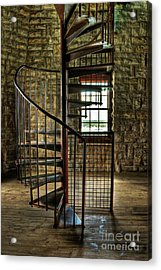 Acrylic Print featuring the photograph Tucker's Tower Spiral Staircase by Tamyra Ayles