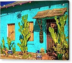 Tucson Blue Acrylic Print