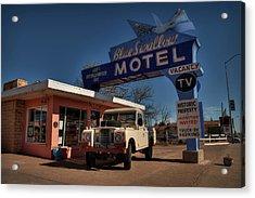 Acrylic Print featuring the photograph Tucumcari - Blue Swallow Motel 001 by Lance Vaughn