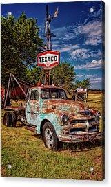 Tucumcari Trading Post Chevy Acrylic Print by Diana Powell
