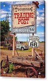 Tucumcari Trading Post Sign Acrylic Print by Diana Powell