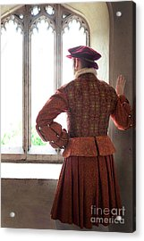 Acrylic Print featuring the photograph Tudor Man At The Window by Lee Avison