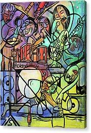 Tuesday Night Blues Jam Acrylic Print by Anthony Falbo