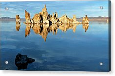 Tufa Reflection At Mono Lake Acrylic Print