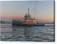 Tugboat Buckley Mcallister At Sunset Acrylic Print