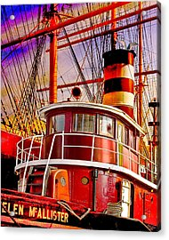 Tugboat Helen Mcallister Acrylic Print by Chris Lord