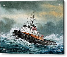Tugboat Hunter Crowley Acrylic Print by James Williamson