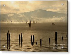 Tugboat In The Mist Acrylic Print