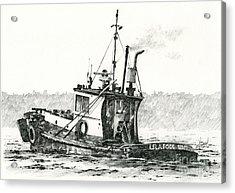 Tugboat Lela Foss Acrylic Print by James Williamson