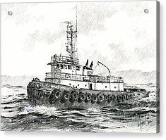 Tugboat Sandra Foss Acrylic Print by James Williamson