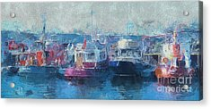 Tugs Together  Acrylic Print