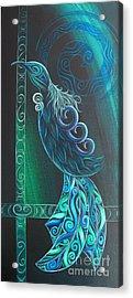 Tui Bird By Reina Cottier Acrylic Print