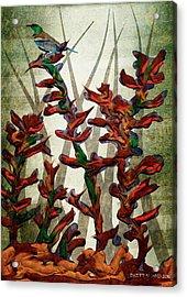 Tui In Flax Acrylic Print