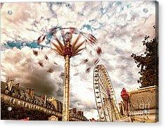 Tuilerie Garden Paris Swings Acrylic Print