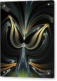 Tulip Abstract Acrylic Print by Sandra Bauser Digital Art